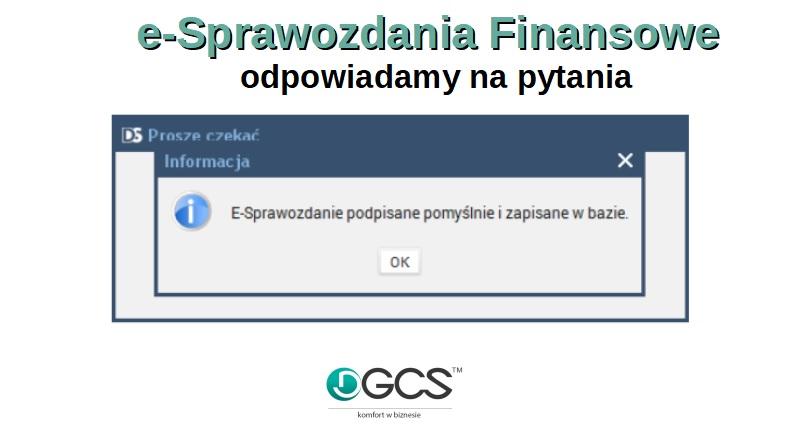 c35b76885782e1 e- Sprawozdania Finansowe - odpowiadamy na pytania - DGCS S. A.